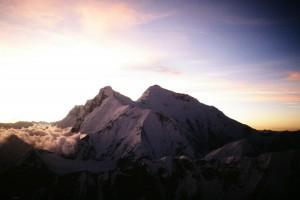 Everest y Lhotse desde Makalu